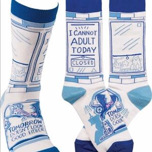 🆕 Can't Adult Today Graphic  Trouser Socks